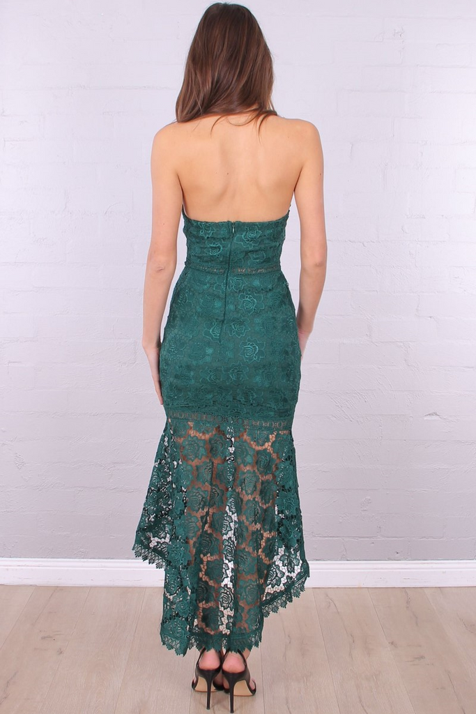 Arianna Dress - Emerald Green