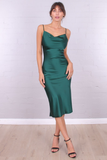 Kimmie slip dress - Emerald