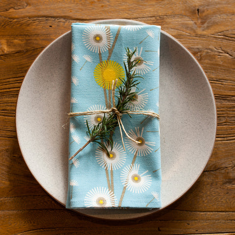 NAPKINS: DANDELION ORGANIC COTTON - SET OF 4