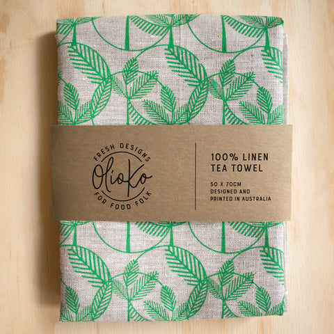 TEA TOWEL: 100% LINEN - QUEENSLANDER