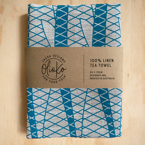 TEA TOWEL: 100% LINEN - SARDINES
