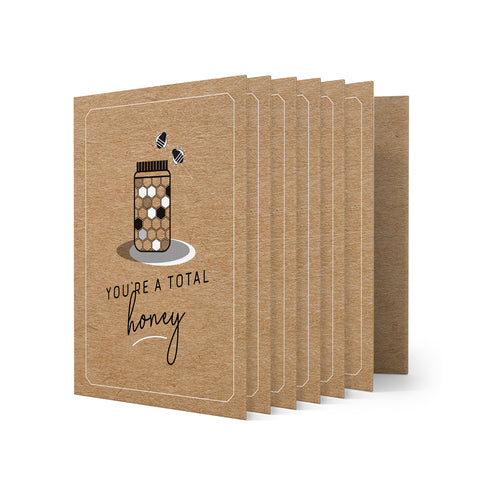 Kraft Greeting Cards - Pack of 6