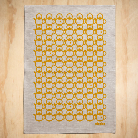 TEA TOWEL: 100% LINEN - TEA WITH GRAN