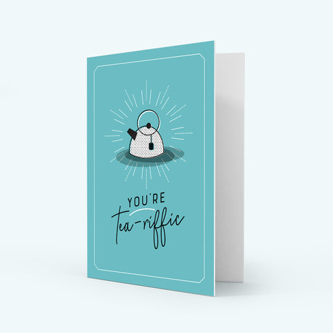 Colour Greeting Card - Tea-riffic