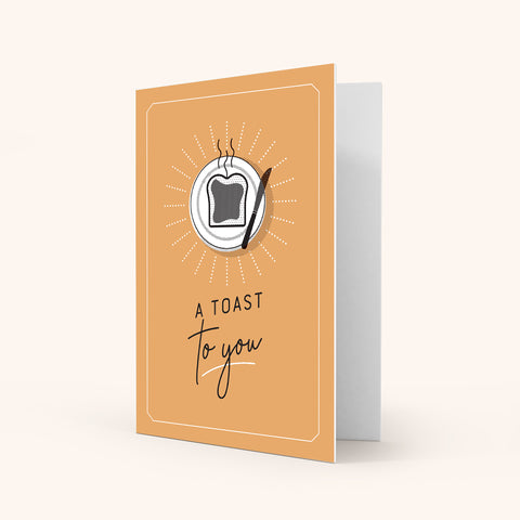 Colour Greeting Card - Toast