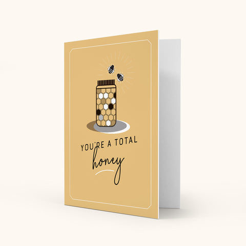 Colour Greeting Card - Honey