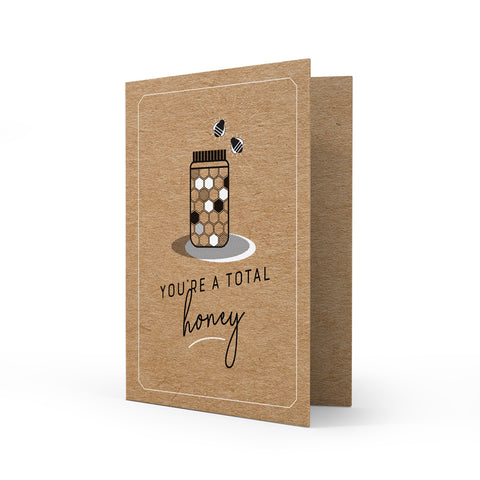 Kraft Greeting Card - Honey