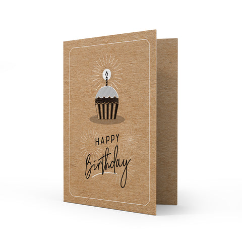 Kraft Greeting Card - Birthday