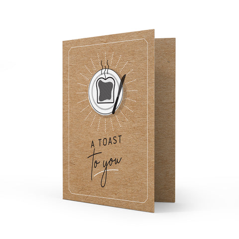 Kraft Greeting Card - Toast