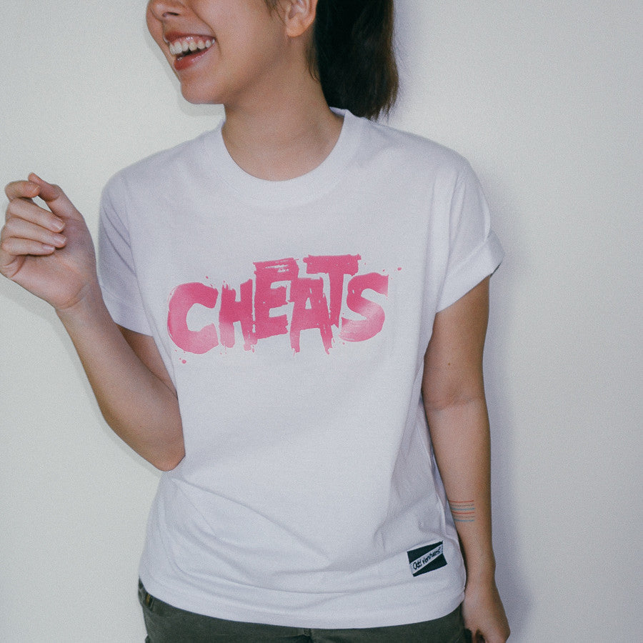 Cheats Logo Shirt (Pink on White)