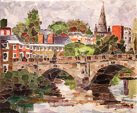 English Bridge, Shrewsbury A3 Print