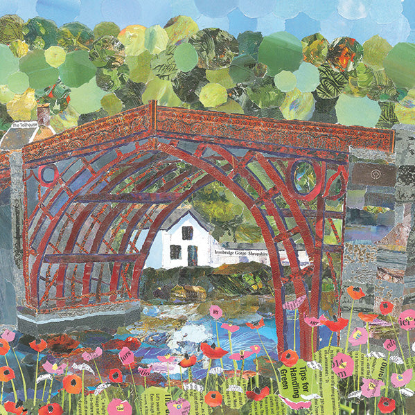 Ironbridge in Red, Shropshire Mini Print