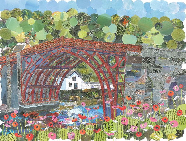 Ironbridge in Red, Shropshire A4 Print