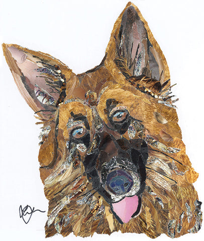 Alsatian Dog Mini Print