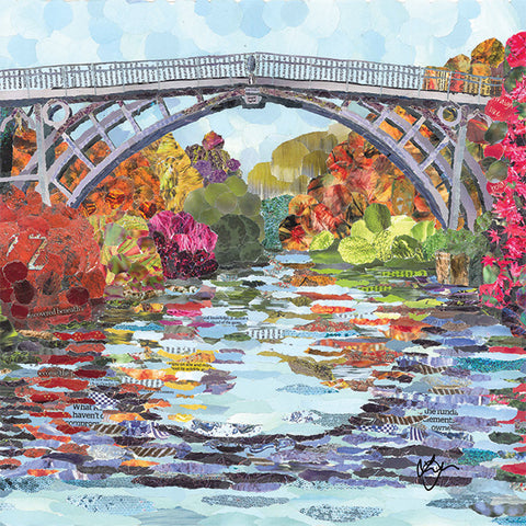 Ironbridge in Autumn Card
