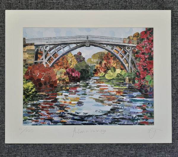 Ironbridge in Autumn A3 Print