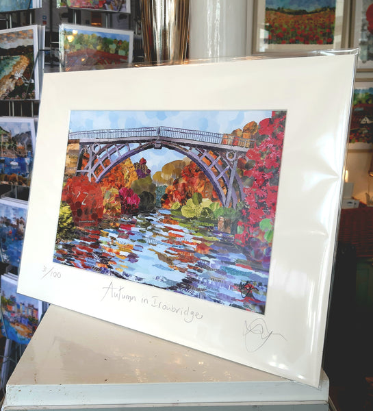 Ironbridge in Autumn A4 Print