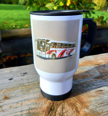 Longmynd Travel Stainless Steel Travel Mug
