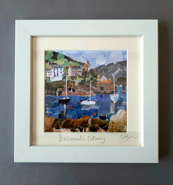 Barmouth Estuary Mini Print Framed