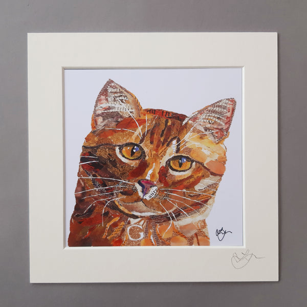 Ginger Cat Mini Print