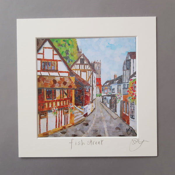 Fish Street, Shrewsbury Mini Print