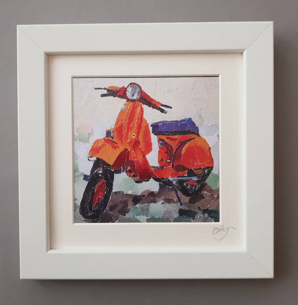 Scooter Mini Print Framed