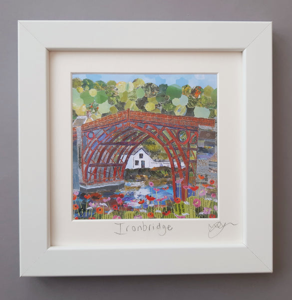 Ironbridge in Red Mini Print Framed