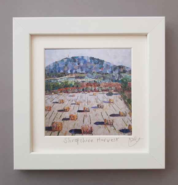Shropshire Harvest Mini Print Framed