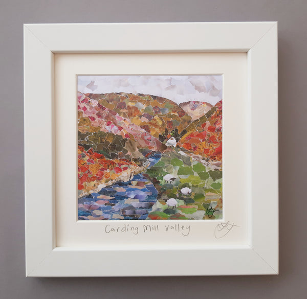 Carding Mill Valley, Shropshire Mini Print Framed