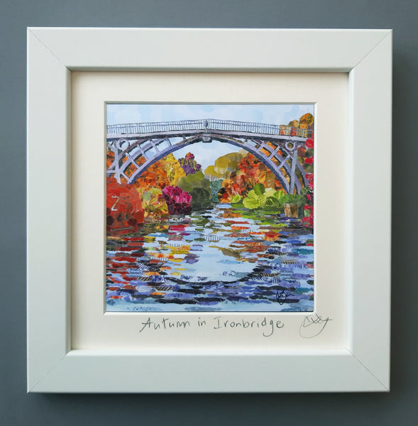 Ironbridge in Autumn Mini Print Framed