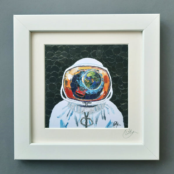 Astronaut Mini Print Framed