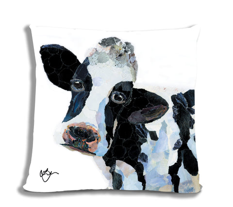 Clarissa the Cow 18X18 Faux Suede Cushion