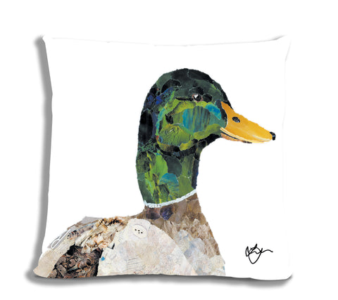 Dominic the Duck 18X18 Faux Suede Cushion