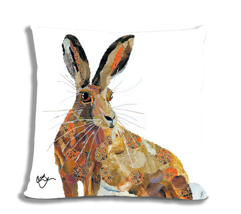 Heather the Hare 18X18 Faux Suede Cushion