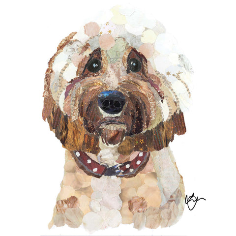 Cavapoo Dog Card