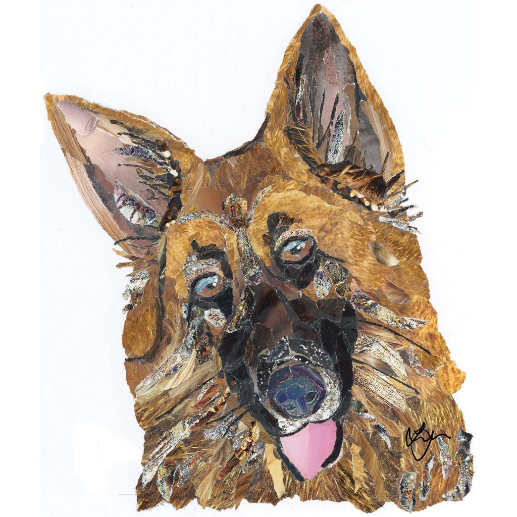 Alsatian Dog Card