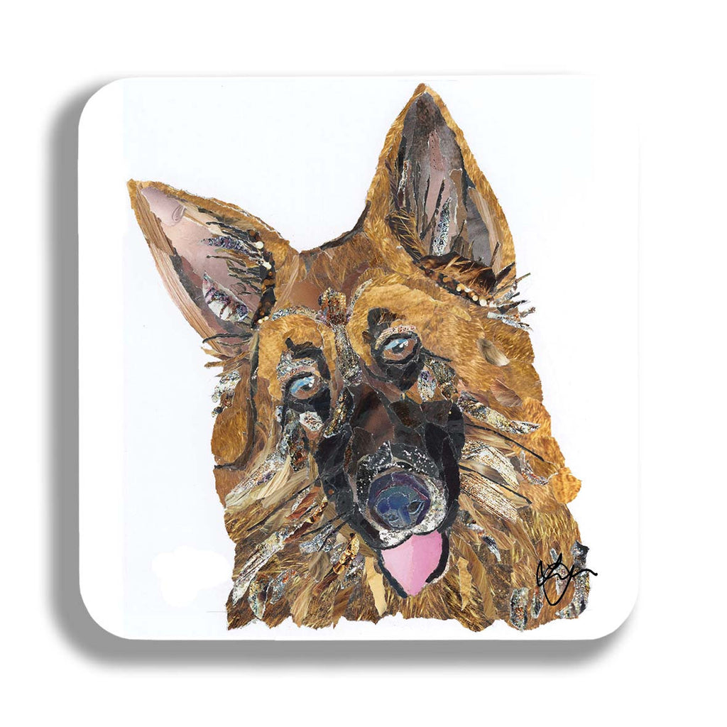 Alsatian Dog Coaster