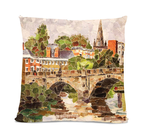 English Bridge 18X18 Faux Suede Cushion