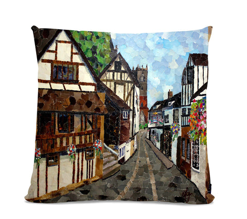 Fish Street 18X18 Faux Suede Cushion