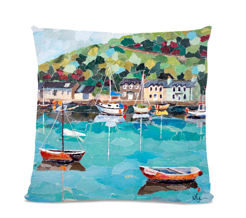Fishguard 18X18 Faux Suede Cushion