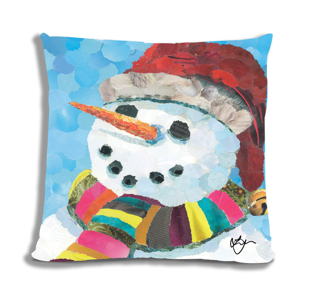 Snowman Faux Suede Cushion