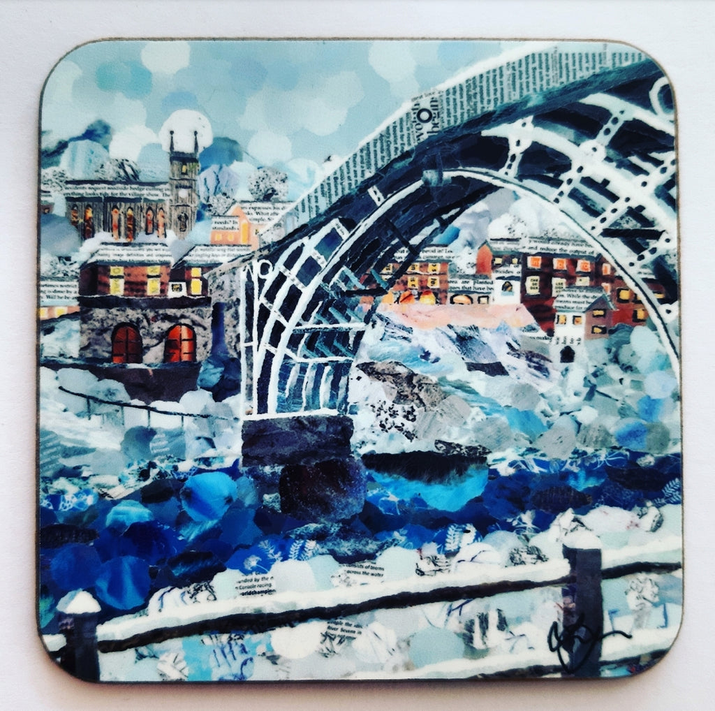 Ironbridge in Winter Coaster