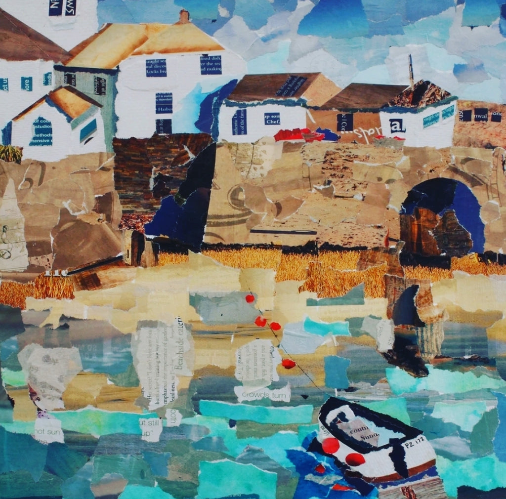 St. Ives Harbour, Cornwall A4 Print