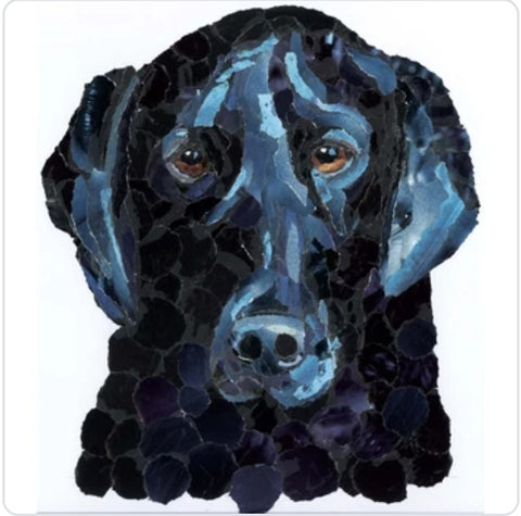 Black Labrador Dog A3 Print
