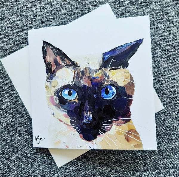 Siamese Cat Card