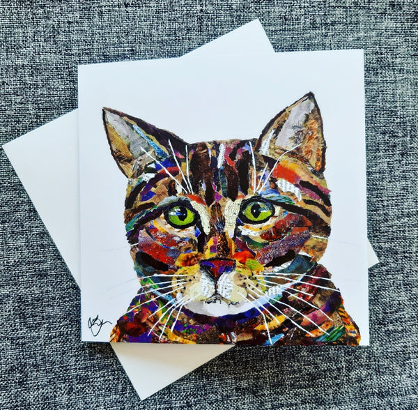 Tabby Cat Card