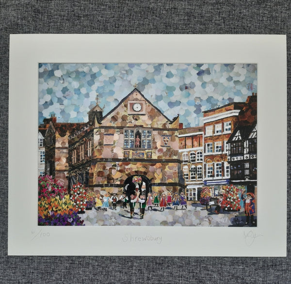 The Square, Shrewsbury A3 Print