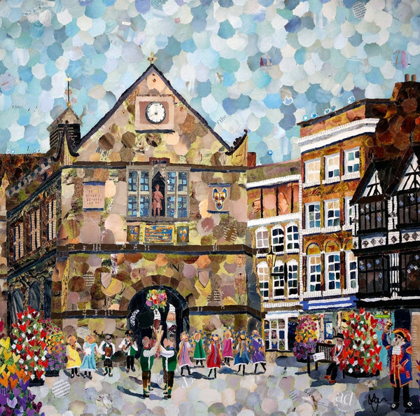 The Square, Shrewsbury Mini Print