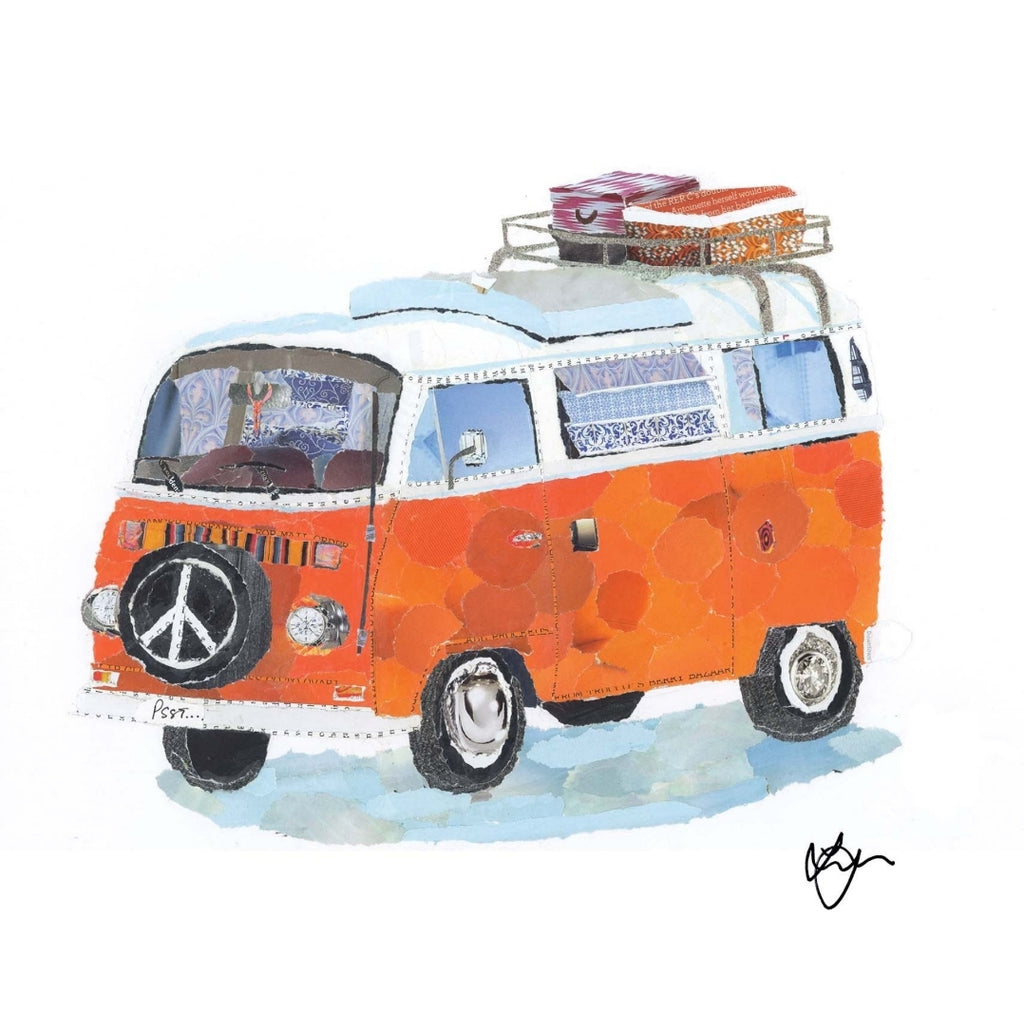 Otto the Orange Camper Mini Print