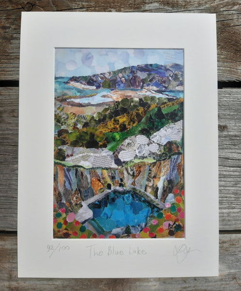 Blue Lake, Fairbourne Wales A4 Print
